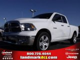 2010 Stone White Dodge Ram 1500 SLT Quad Cab #24387780