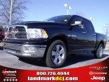 2010 Brilliant Black Crystal Pearl Dodge Ram 1500 Big Horn Crew Cab #24387786