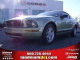 2005 Legend Lime Metallic Ford Mustang V6 Deluxe Coupe #24387790