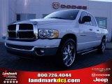 2005 Bright White Dodge Ram 1500 SLT Quad Cab #24387798