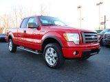 2010 Vermillion Red Ford F150 FX4 SuperCab 4x4 #24387817
