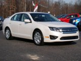 2010 White Platinum Tri-coat Metallic Ford Fusion SE #24387818