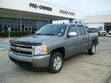 2008 Graystone Metallic Chevrolet Silverado 1500 LT Crew Cab #24436448