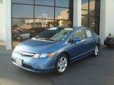 2007 Atomic Blue Metallic Honda Civic EX Sedan #24436384