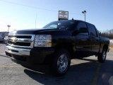 2010 Black Chevrolet Silverado 1500 LT Crew Cab 4x4 #24436821