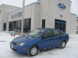 French Blue Metallic Ford Focus in 2004