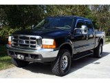 2000 Black Ford F250 Super Duty Lariat Crew Cab 4x4 #24436602