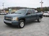2008 Blue Granite Metallic Chevrolet Silverado 1500 LT Extended Cab 4x4 #24436641