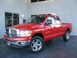 2007 Flame Red Dodge Ram 1500 Big Horn Edition Quad Cab 4x4 #24436364