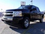2010 Black Chevrolet Silverado 1500 LT Crew Cab 4x4 #24436829