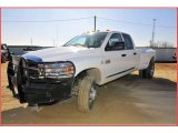 2007 Bright White Dodge Ram 3500 Laramie Quad Cab 4x4 Dually #24436882
