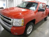 2008 Victory Red Chevrolet Silverado 1500 LT Extended Cab 4x4 #24493472