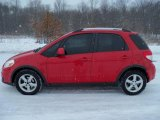 2007 Bright Red Suzuki SX4 Sport AWD #24493607