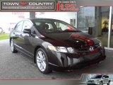 2007 Nighthawk Black Pearl Honda Civic Si Sedan #24493518
