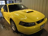 2003 Zinc Yellow Ford Mustang GT Coupe #24493470