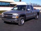 2000 Light Pewter Metallic Chevrolet Silverado 1500 LS Extended Cab 4x4 #24493016