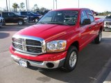 2006 Flame Red Dodge Ram 1500 SLT Quad Cab #24493010