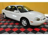 Ultra White Ford Taurus in 1997