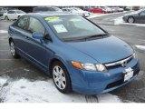 2007 Atomic Blue Metallic Honda Civic LX Sedan #24493421