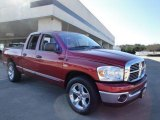 2007 Flame Red Dodge Ram 1500 SLT Quad Cab #24531359