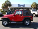 2006 Flame Red Jeep Wrangler SE 4x4 #24493034