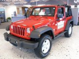 2010 Flame Red Jeep Wrangler Sport 4x4 #24493808