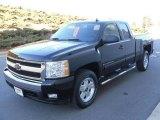 2007 Black Chevrolet Silverado 1500 LT Extended Cab 4x4 #24493824