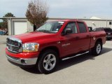 2006 Flame Red Dodge Ram 1500 SLT Quad Cab #24493913