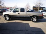 1999 Light Pewter Metallic Chevrolet Silverado 1500 LS Extended Cab 4x4 #24493951