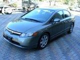 2007 Galaxy Gray Metallic Honda Civic LX Sedan #24493980