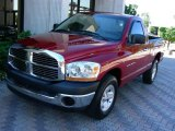 2006 Inferno Red Crystal Pearl Dodge Ram 1500 ST Regular Cab #24493982