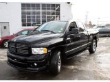 2004 Black Dodge Ram 1500 SLT Quad Cab 4x4 #24494032