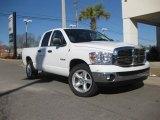 2008 Bright White Dodge Ram 1500 Big Horn Edition Quad Cab #24588811