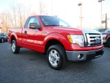 2010 Vermillion Red Ford F150 XLT Regular Cab #24588646