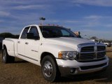 2004 Bright White Dodge Ram 3500 Laramie Quad Cab 4x4 Dually #24588669