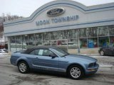 2006 Windveil Blue Metallic Ford Mustang V6 Deluxe Convertible #24588711