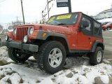 2006 Impact Orange Jeep Wrangler Rubicon 4x4 #24588754
