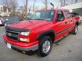 2006 Victory Red Chevrolet Silverado 1500 Z71 Crew Cab 4x4 #24588787