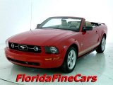 2007 Torch Red Ford Mustang V6 Deluxe Convertible #24588357