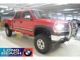 2002 Victory Red Chevrolet Silverado 1500 LS Crew Cab 4x4 #24588844