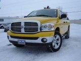 2007 Detonator Yellow Dodge Ram 1500 Big Horn Edition Quad Cab 4x4 #24588514