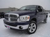 2007 Patriot Blue Pearl Dodge Ram 1500 Big Horn Edition Quad Cab 4x4 #24587949