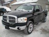 2007 Brilliant Black Crystal Pearl Dodge Ram 1500 ST Quad Cab 4x4 #24588250