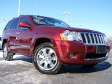 2008 Red Rock Crystal Pearl Jeep Grand Cherokee Overland 4x4 #24588050