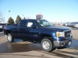 2009 Midnight Blue Metallic GMC Sierra 2500HD SLT Crew Cab 4x4 #24588091