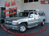 2002 Light Pewter Metallic Chevrolet Silverado 1500 LS Extended Cab 4x4 #24588125