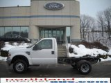 2010 Oxford White Ford F350 Super Duty XL Regular Cab 4x4 Chassis #24588133