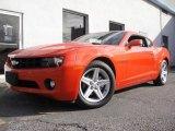2010 Inferno Orange Metallic Chevrolet Camaro LT Coupe #24588176