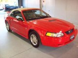 2000 Performance Red Ford Mustang V6 Convertible #24587866