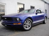 2005 Sonic Blue Metallic Ford Mustang V6 Deluxe Coupe #24588180